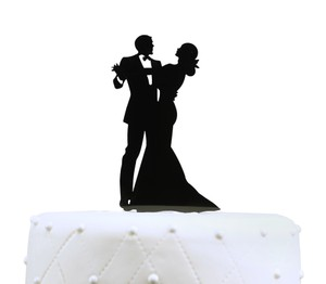 Unik Occasions Dancing Couple Acrylic Wedding Cake Topper