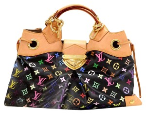 Louis Vuitton Ursula Black Satchel in Multi