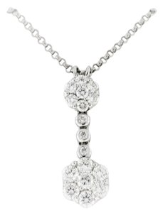 Other Classic Dangle And Drop Diamond Pendant- 18k White Gold