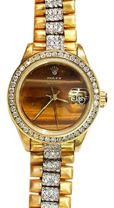 Rolex Ladies Datejust President 18 karat Solid Yellow Gold With Diamonds
