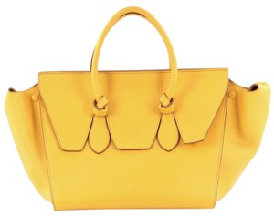 Céline Celine Leather Tote in Mustard yellow