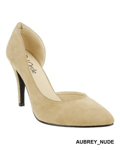 Red Circle Footwear Nude Pumps