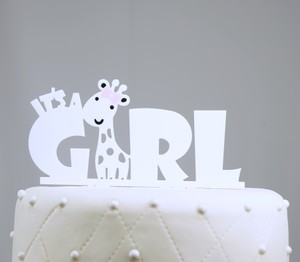 Unik Occasions It's A Girl Acrylic Baby Shower Cake Topper