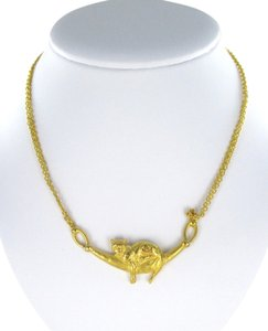 Other 24KT YELLOW GOLD SOLID LEOPARD PANTHER NECKLACE HANGING 27.3 GRAMS FIN