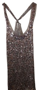 Forever 21 Sequin Tank Dressy Top silver