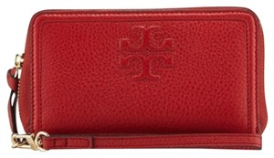 Tory Burch Wristlet in Rust Red