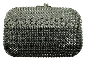 Judith Leiber Minaudiere Ombre Silver Clutch
