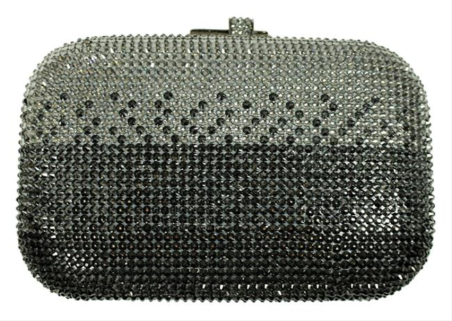 Judith Leiber Ombre Couture Minaudiere Silver Crystals/Leather Lining Clutch Judith Leiber Ombre Couture Minaudiere Silver Crystals/Leather Lining Clutch Image 1