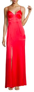 Wyatt Dresswithslits Redgown Slipdress Dress