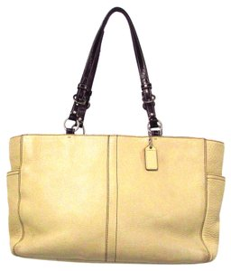 Coach Chelsea Leather Tote in Beige