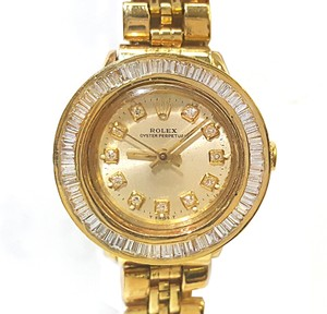 Rolex Ladies 18 karat Gold With Diamond Dial & Bezel