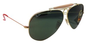 Ray-Ban Ray-Ban Sunglasses RB 3138 SHOOTER 001 62-09 Arista Gold w/Green Lens