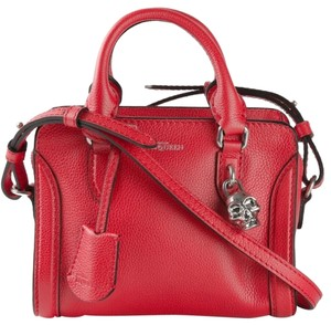 Alexander McQueen Mini Padlock Calfskin Satchel Cross Body Bag