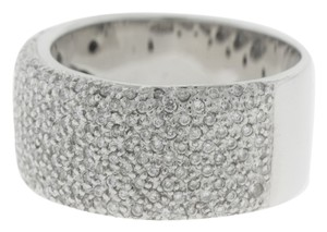 Other Large Clustered Diamond Band- 14k White Diamond