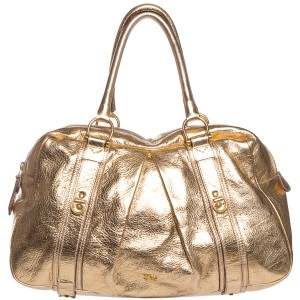 Burberry Satchel in Metallic Gold