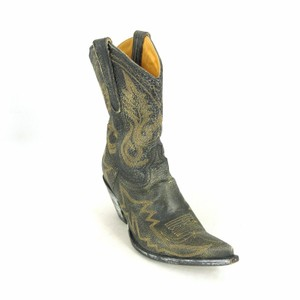 Old Gringo Leather Embroidered Western Black Boots