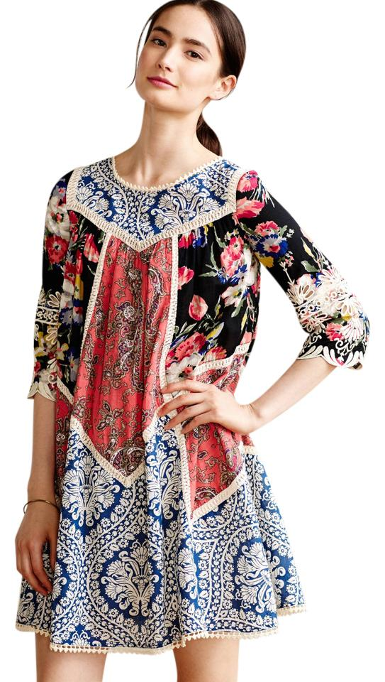 7123b27a4d49a Anthropologie Multi/Pattern/Floral Vanessa Virginia Inez Swing Short Casual  Dress