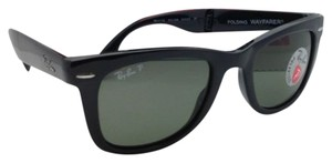 Ray-Ban Polarized RAY-BAN Sunglasses FOLDING WAYFARER 4105 601/58 50-22 Black