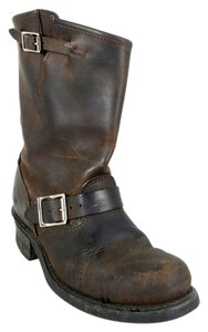 Frye Leather Rugged Classic Dark Brown Boots