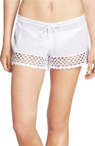 Becca by Rebecca Virtue 'It Girl' Crochet Trim Crinkled Cotton Shorts
