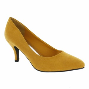 Red Circle Footwear Mustard Pumps