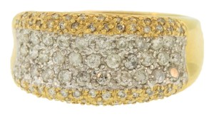 Other Diamond Encrusted Wedding Band- 14k Yellow Gold