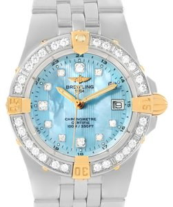 Breitling Breitling Starliner Steel Yellow Gold Blue MOP Diamond Watch B71340