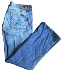 7 For All Mankind Rare Sfam 7fam Straight Leg Jeans-Light Wash