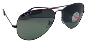 Ray-Ban Polarized RAY-BAN Sunglasses RB 3025 Large Metal 002/58 55-14 Black