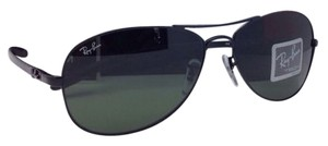 df1167f497683 Ray-Ban New Rb 3422-q 9040 Black   Black Leather Aviator W  G15 ...