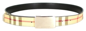 Burberry Signature Plaid Classic Check w/ Silver Buckle Belt