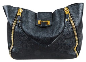 Tom Ford Pebbled Calf Tote in Black