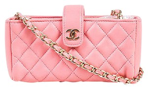 Chanel Lamb Leather Quilted Valentine Collection Mini Crossbody Shoulder Bag