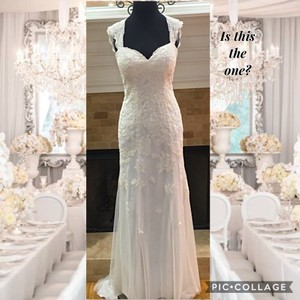 David's Bridal Vintage Style Gown Wedding Dress