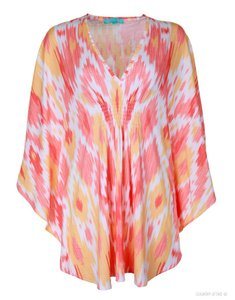 Melissa Odabash short dress Coral & White Kaftan Ikat Beach Coverup on Tradesy
