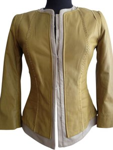 Elie Tahari Mustard Leather Jacket