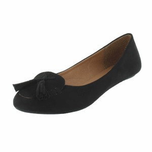 Red Circle Footwear Black Flats