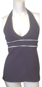 Victoria's Secret Bra Halter Piping Accent Navy Blue Halter Top