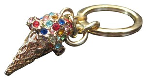 Coach Ice Cream Cone Swarovski Crystals Fob Keychain ***PERFECT***
