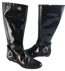 Jimmy Choo Patent Leather Black Boots