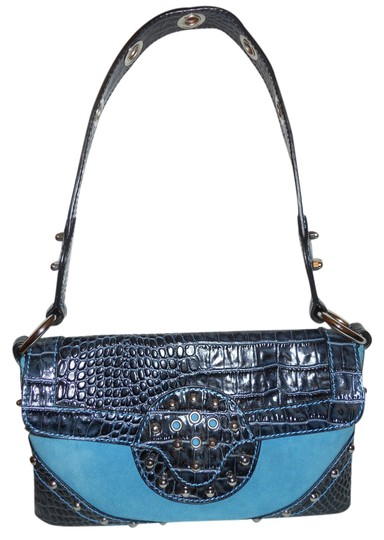 Preload https://item4.tradesy.com/images/charlie-lapson-navy-and-turquoise-leather-shoulder-bag-2037373-0-0.jpg?width=440&height=440