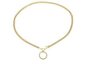 Chanel Vintage Gold Double Chain Spyglass Necklace