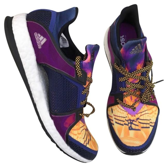 Item - Purple & Yellow Pure Boost Athletic Shoes