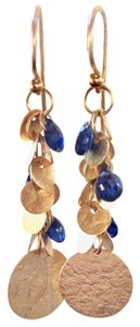GURHAN Gurhan Blue Sapphire 24K Gold Dangle Earrings