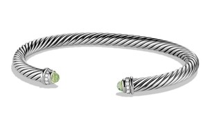 David Yurman Classic Cable Prasiolite & Diamonds 5 mm