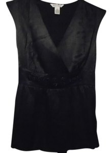 White House | Black Market Shirt Sequin Detail Top Black