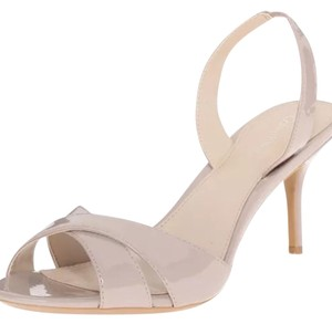 Calvin Klein tan nude beige gray Pumps