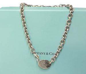 Tiffany & Co. Tiffany & Co. Sterling Silver Necklace Oval