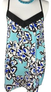 Romeo & Juliet Couture Top blue white black