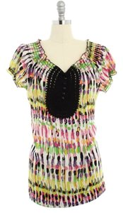 BCBGMAXAZRIA Top yellow black pink
